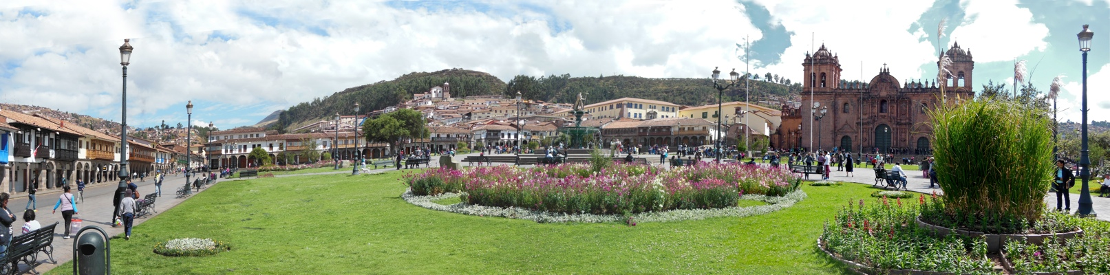 Cusco square panorama, 2015